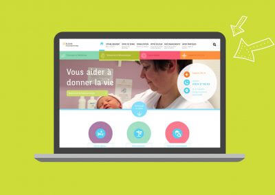 Site web de la Polyclinique du Parc de Caen (en collaboration avec Idmagine)