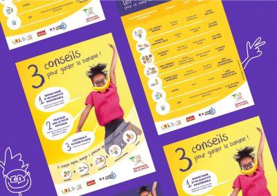 Flyer de sensibilisation à l'équilibre alimentaire diffusé par l'Union Régionale des Médecins Libéraux de Martinique (en collaboration avec Idmagine)