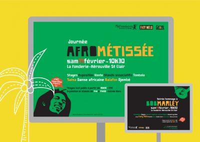 Affiche évènement concert pour l'association Métissakana