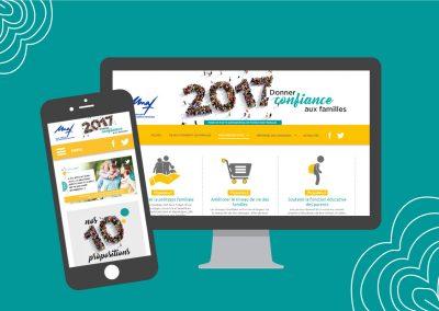 Webdesign du site évènementiel de l'Union Nationale des Familles à l'occasion des élections présidentielles (en collaboration avec JMT conseil)