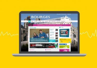 Site web de la mairie de la ville de Bourges (en collaboration avec l'agence Idmagine)