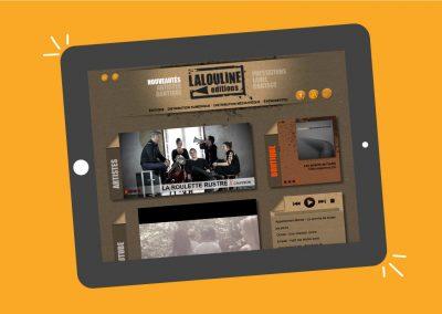 Conception et développement du site de l'éditeur de musique Lalouline éditions