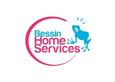 Logo et identité graphique de la société de service à la personne Bessin Home Services (réalisé au sein de l'agence Adélic)
