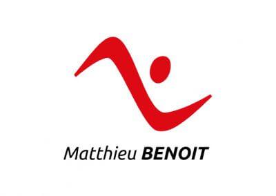 Création de l'identité du coach sportif Matthieu Benoit (réalisé au sein de l'agence Idmagine)