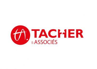 Création du logo et de l'identité visuelle du cabinet comptable Tacher & associés (réalisé au sein de l'agence Idmagine)