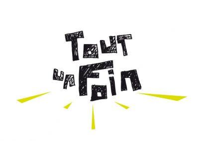 Proposition non retenue de logo pour le festival Tout un foin (réalisé au sein de l'agence Adélic communication)