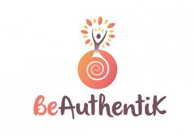 Création du logo Be Authentik, coaching personnel en Belgique
