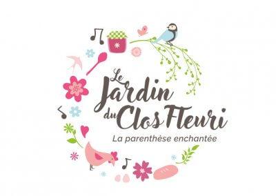 Création du logo du Jardin du Clos Fleuri en Normandie