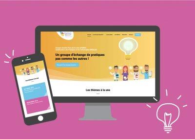 Réalisation du site internet sous Wordpress de l'assocation APIMED Pays de la Loire Groupe Qualité