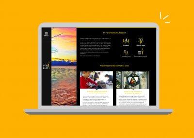 Amélioration de la page de présentation des ateliers sur le site de Floraluz, créatrice de vitraux.