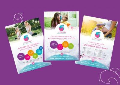 Affiches des activités au centre de bien-être L'Ô Cocoon près de Montpellier