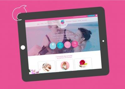 Site internet avec réservation en ligne du centre de bien-être L'Ô Cocoon près de Montpellier
