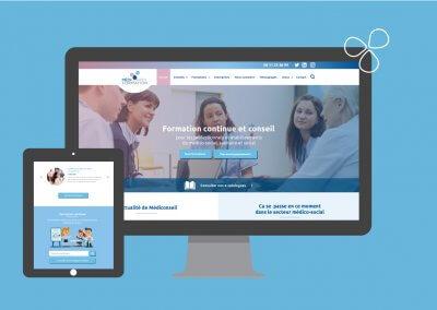 Site internet de l'organisme de formation Médiconseil formation à Pau